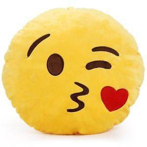 Emoji Pillow Kiss Face  - CASES A LA MODE
