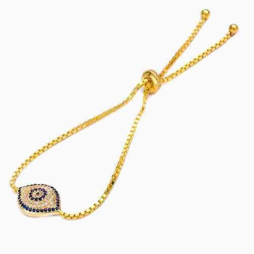 Gold Evil Eye Bracelet  - CASES A LA MODE