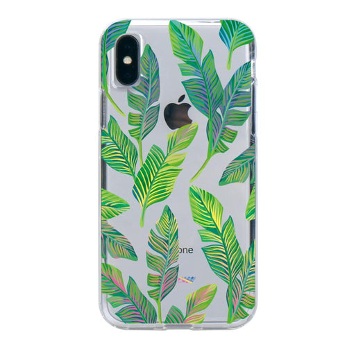Holo Leaves iPhone Case IPHONE X - CASES A LA MODE