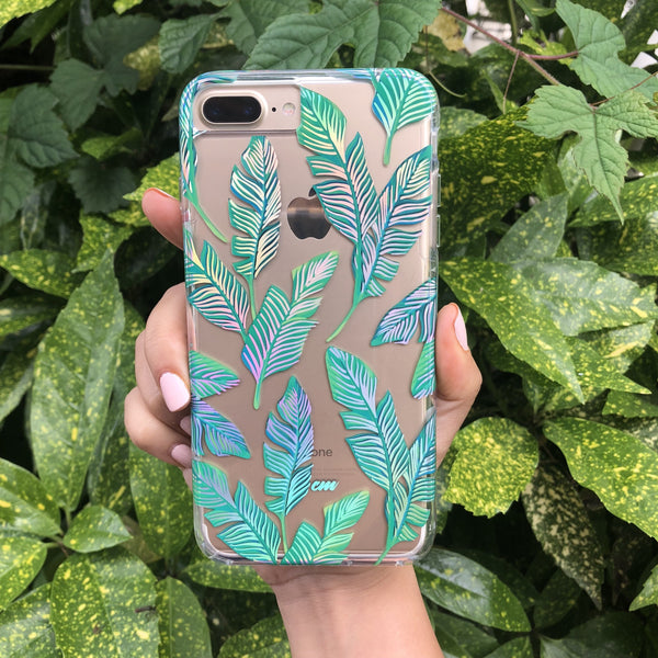 Holo Leaves iPhone Case  - CASES A LA MODE