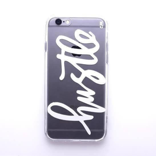 Hustle White iPhone Case  - CASES A LA MODE