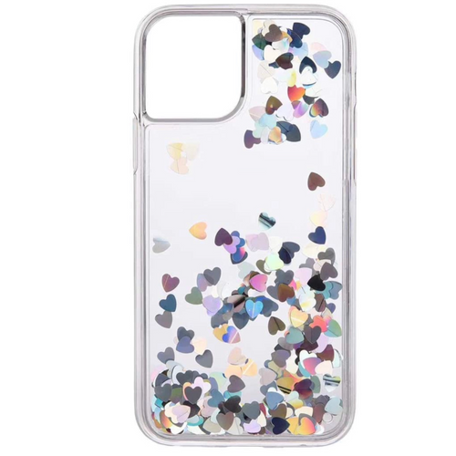 Holo Hearts Clear iPhone Case  - CASES A LA MODE