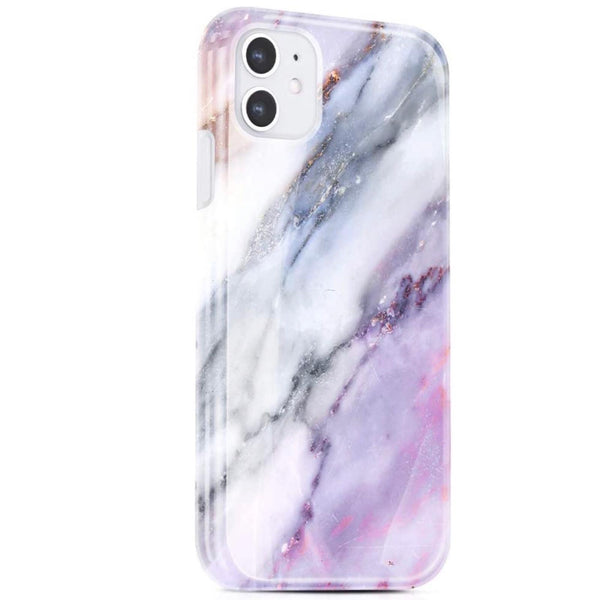 Violet Marble iPhone Case  - CASES A LA MODE