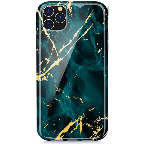 Green and Gold Marble iPhone Case  - CASES A LA MODE