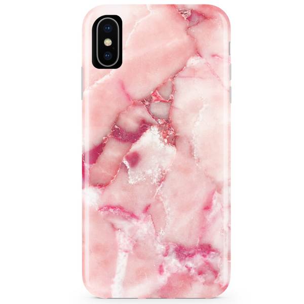 Rose Pink Marble iPhone Case  - CASES A LA MODE