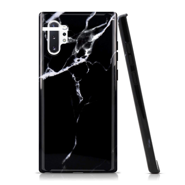 Black Marble Samsung Case  - CASES A LA MODE