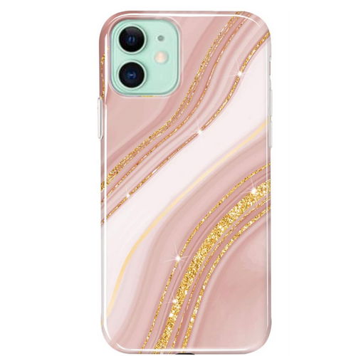 Rose Gold Glitter Marble iPhone Case  - CASES A LA MODE