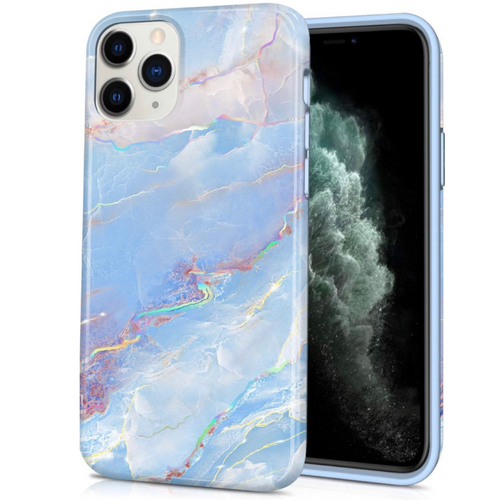Blue Sky Holo Marble Case  - CASES A LA MODE
