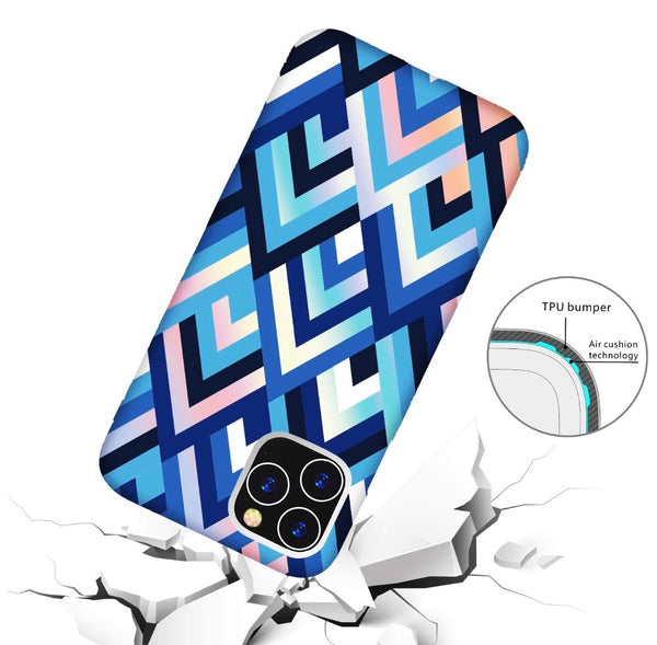 Blue Geometric iPhone Case  - CASES A LA MODE