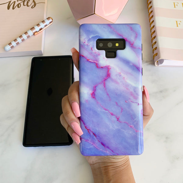 Purple Sky Marble Samsung Case  - CASES A LA MODE
