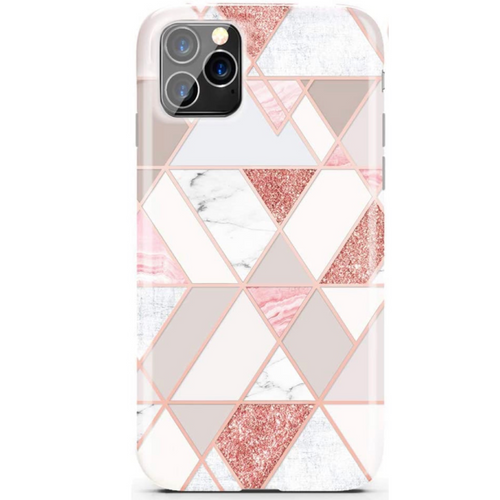Rose Gold Geometric Marble iPhone Case  - CASES A LA MODE