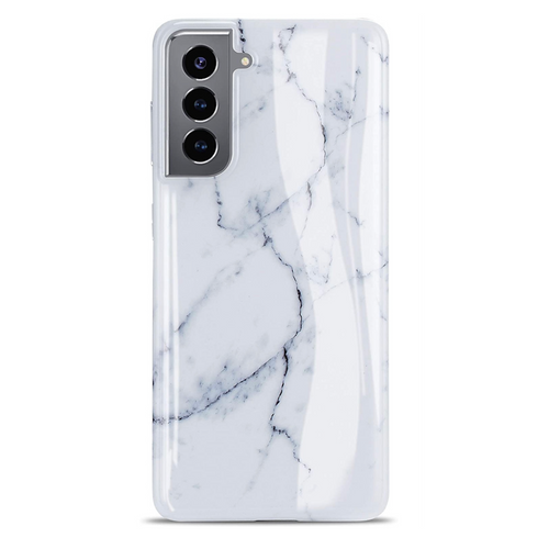 White Marble Samsung Case  - CASES A LA MODE
