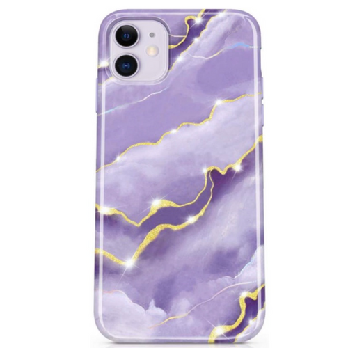 Purple Sky Marble iPhone Case  - CASES A LA MODE
