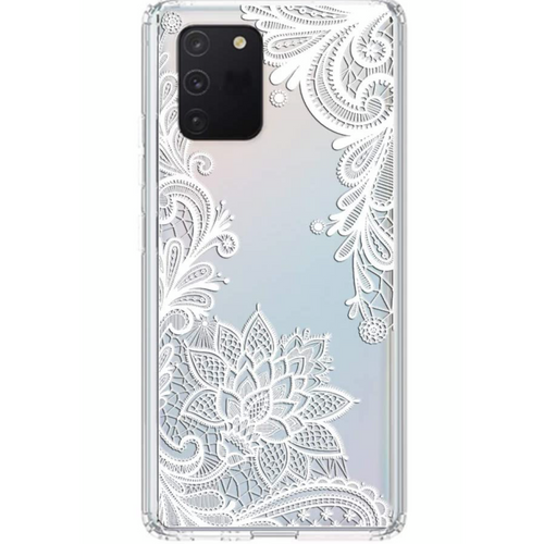 White Lace Floral Samsung Case GALAXY S20 PLUS - CASES A LA MODE