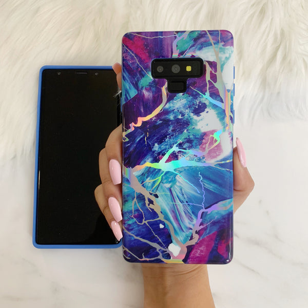 Majestic Holo Marble Samsung Case NOTE 9 - CASES A LA MODE