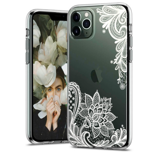 White Floral Lace iPhone Case  - CASES A LA MODE