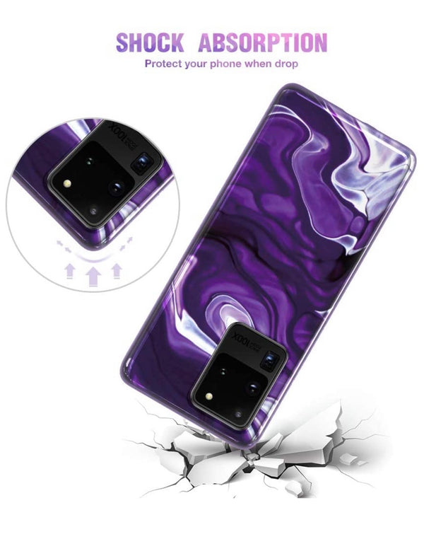 Purple Marble Samsung Case  - CASES A LA MODE