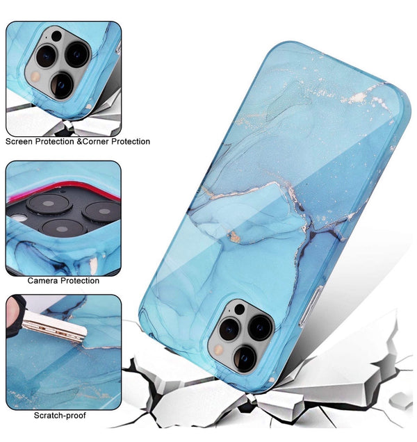 Blue Stone Marble iPhone Case  - CASES A LA MODE