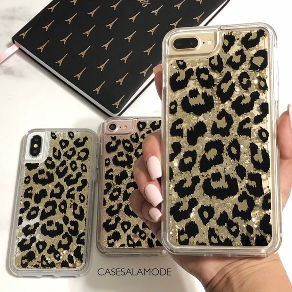 Leopard Glitter iPhone Case  - CASES A LA MODE