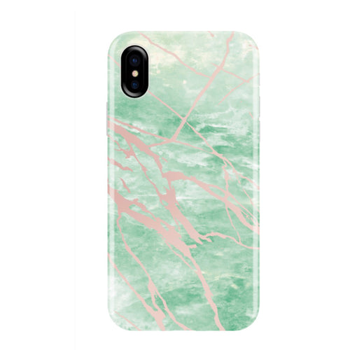 Mint and Rose Gold Marble Phone Case IPHONE X/XS- FINAL SALE - CASES A LA MODE