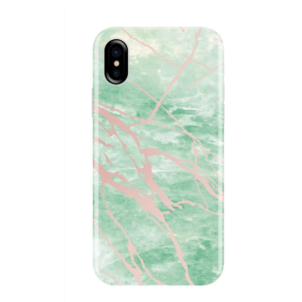 uk availability b723a 20b21 Mint and Rose Gold Marble Phone Case