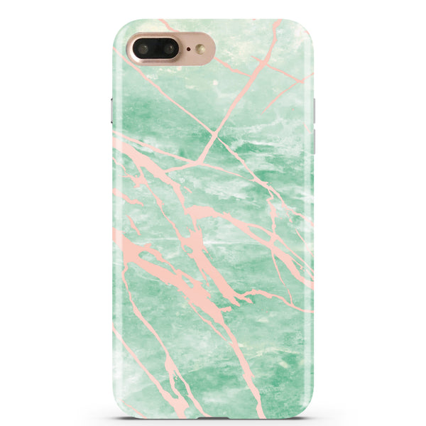 Mint and Rose Gold Marble Phone Case IPHONE 7 PLUS - CASES A LA MODE