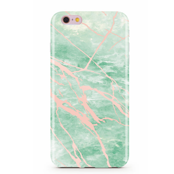 uk availability 227fb e3753 Mint and Rose Gold Marble Phone Case