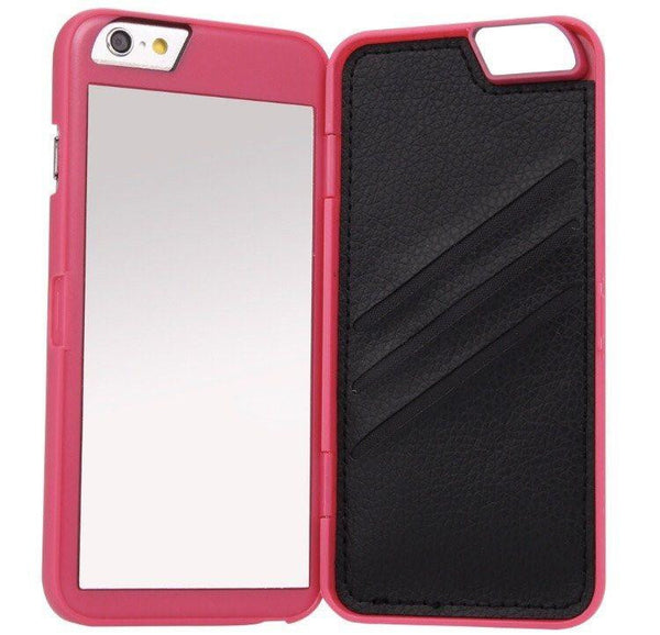 Pink Mirror Wallet iPhone Case  - CASES A LA MODE