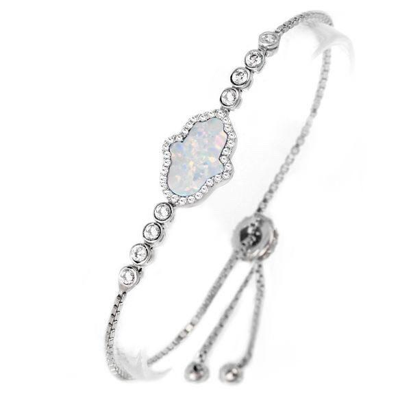 Opal Hamsa Tennis Bracelet  - CASES A LA MODE