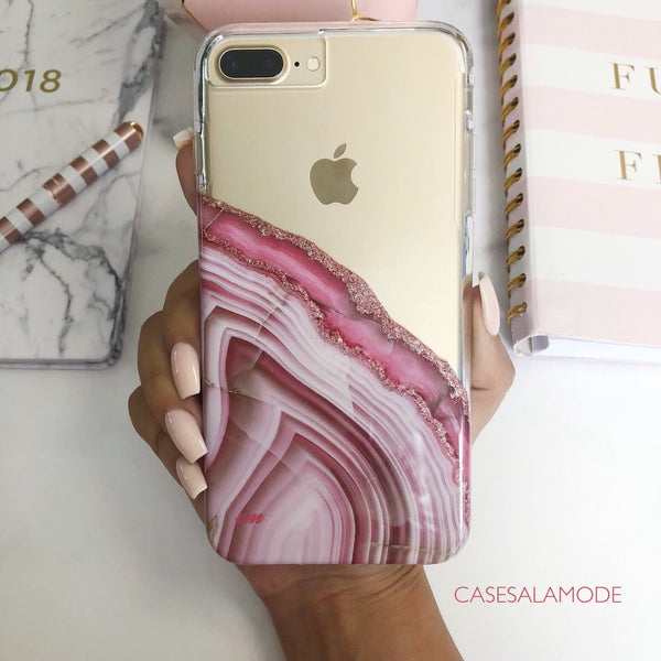 Pink Agate iPhone Case  - CASES A LA MODE