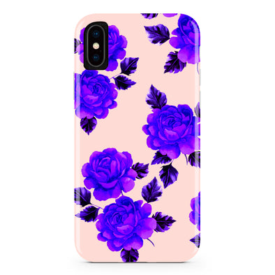 Pink and Purple Flower iPhone Case IPHONE X - CASES A LA MODE