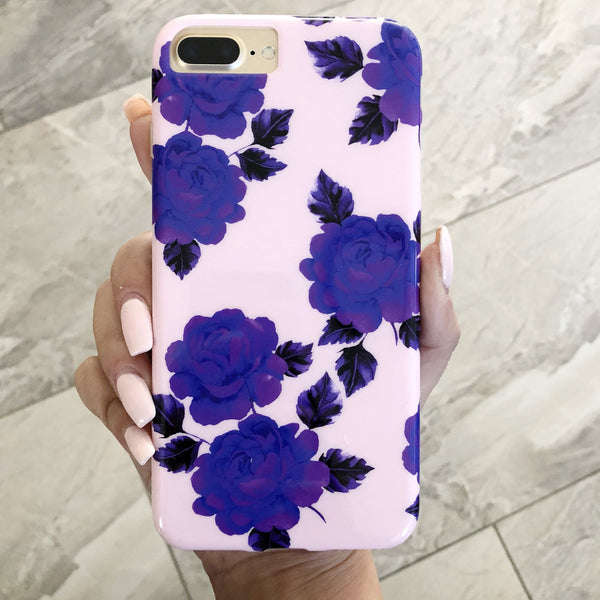 Pink and Purple Flower iPhone Case  - CASES A LA MODE