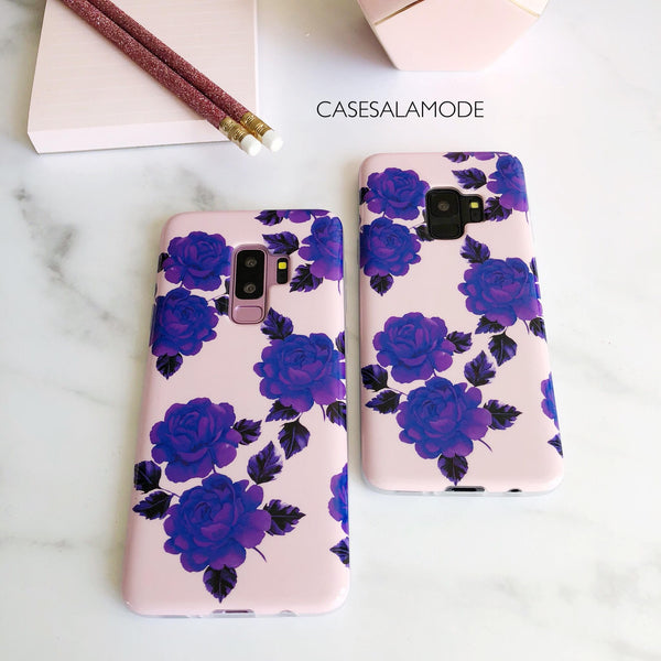 925036dcbe Pink And Purple Flower Case For Samsung Galaxy | Floral Case Samsung ...