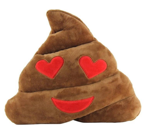 Emoji Pillow Poop Heart Eyes  - CASES A LA MODE