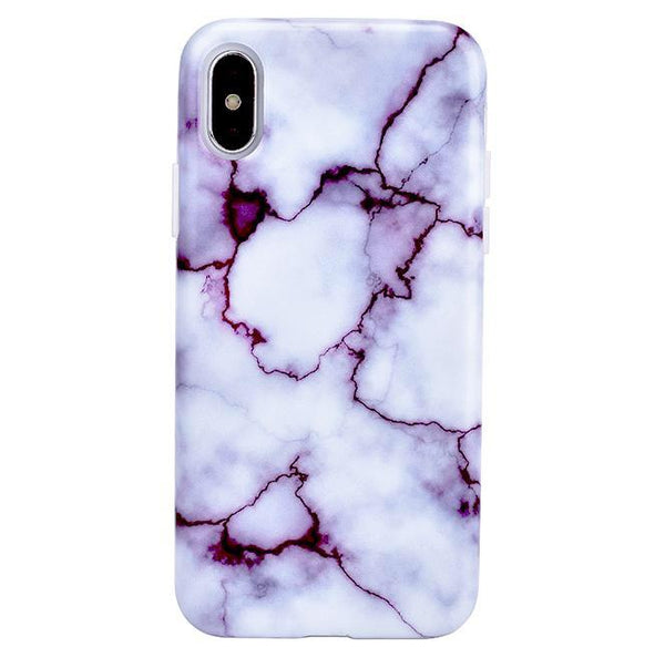 Purple Amethyst Marble iPhone Case  - CASES A LA MODE