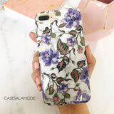 Purple Floral Marble iPhone Case  - CASES A LA MODE