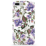 Purple Floral Marble iPhone Case IPHONE 6/S PLUS - CASES A LA MODE