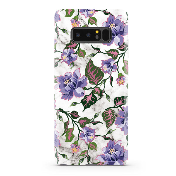 Purple Floral Marble Samsung Phone Case NOTE 8 - CASES A LA MODE