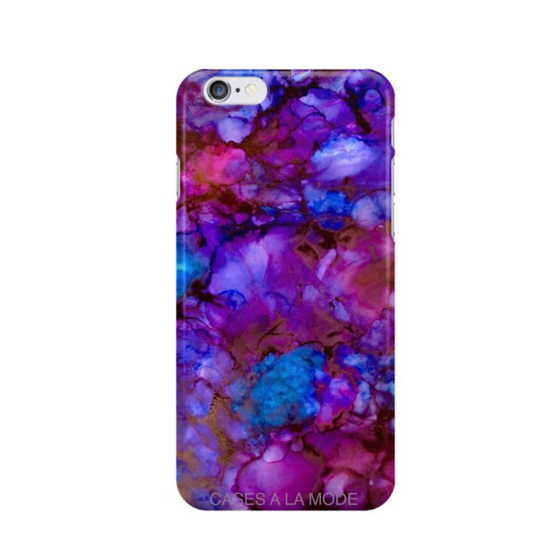 Purple Galaxy Marble iPhone Case IPHONE 6/S - CASES A LA MODE