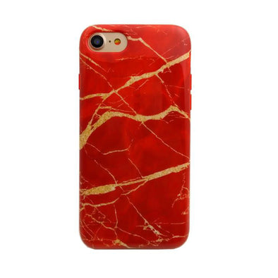 Red and Gold Marble iPhone Case  - CASES A LA MODE