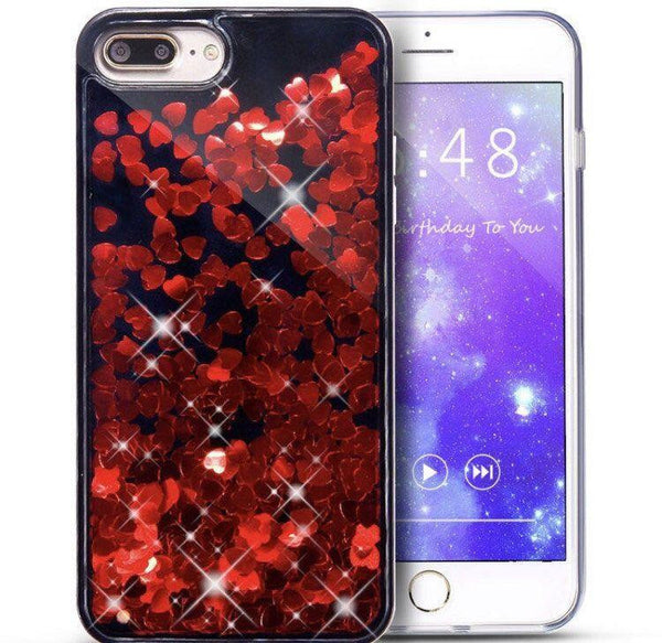 Red Hearts Liquid iPhone Case  - CASES A LA MODE