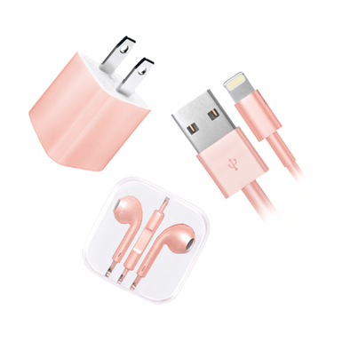 Rose Gold Charge and Ear Phone Set  - CASES A LA MODE