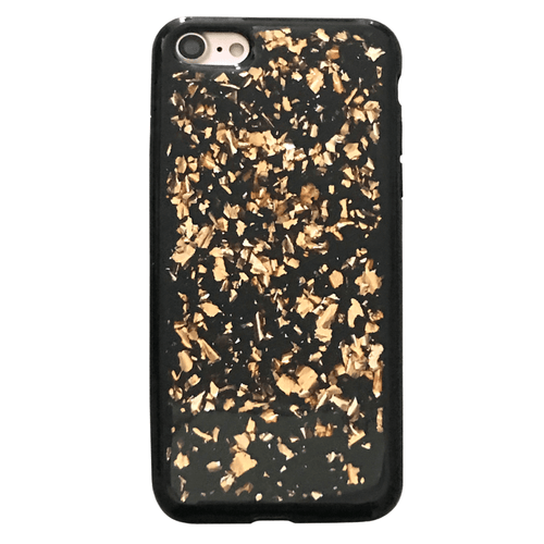 Rose Gold Flakes Black iPhone Case  - CASES A LA MODE