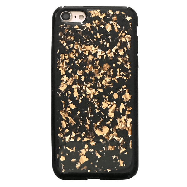 online retailer ddcc9 0f6e7 Rose Gold Flakes Black iPhone Case