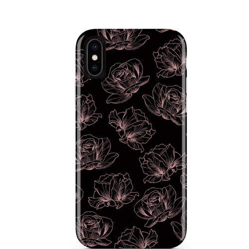 Rose Gold Floral iPhone Case IPHONE X/XS - CASES A LA MODE