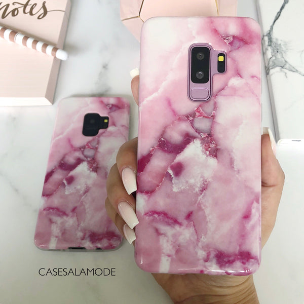 Rose Pink Marble Samsung Phone Case  - CASES A LA MODE
