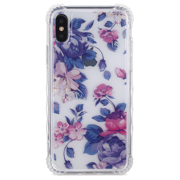 Violet Floral Clear iPhone Case  - CASES A LA MODE