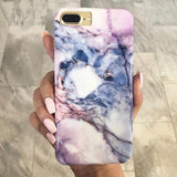 Violet Pastel Marble iPhone Case  - CASES A LA MODE