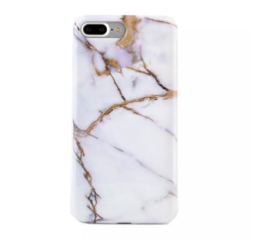 White and Gold Marble iPhone Case  - CASES A LA MODE