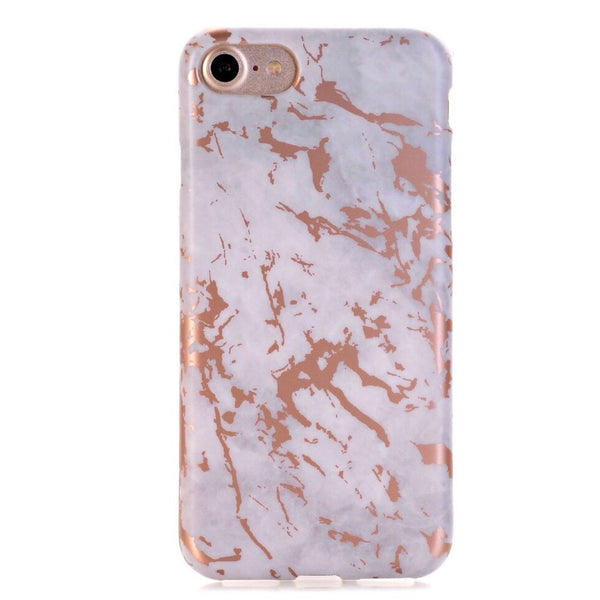 White and Rose Gold iPhone Case IPHONE 8 - CASES A LA MODE